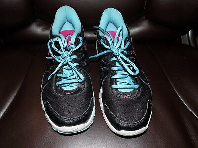 617c0cfc41f26 NIKE REVOLUTION 2 Women s Running Shoes Black Blue Pink 554900-019 Size 7.5  EUC