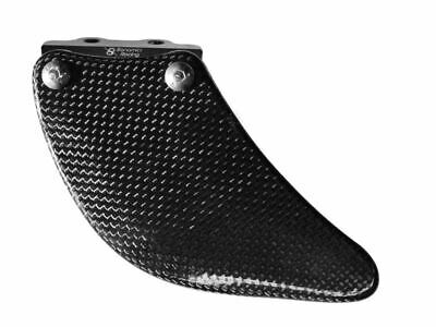 Bonamici Shark Guard - Lower Swingarm Chain Protector (Carbon)