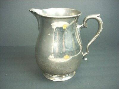 """KEYSTONEWARE Silverplate Pitcher Silver Plate 8"""" Vintage Party Wedding Roses"""
