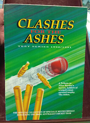 Cricket Clashes For The Ashes Full Medal Collection In Folder