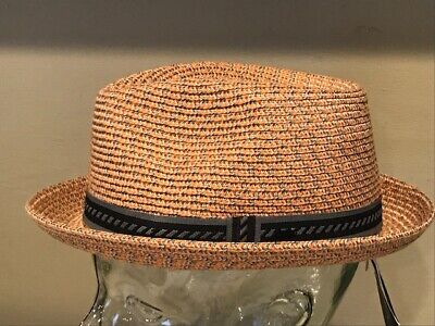 """0de38dfa6 NEW BAILEY OF Hollywood """"MANNES"""" Men's Braided FEDORA TRILBY Hat SMALL COOL"""