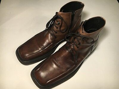 32cb5b66bbb4e Kenneth Cole New York Men Brown Ankle Boots Shoes Vero Cuoio size 10 Italy