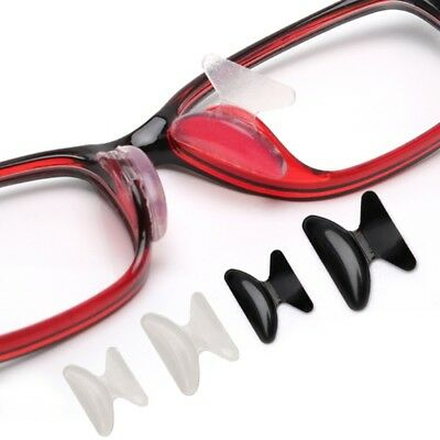 10 Pairs Eyeglasses Sunglasses Adhesive Silicone Non-slip Stick on Nose Pads