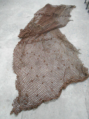 Collectable Vintage THICK ROPE FISHING NET Nautical Maritime Japanese 8m x .5m