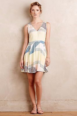 42bb896b1647 NWT Anthropologie Eulalia Tank Dress by Harlyn, SP, Multi color Striped,  Silky