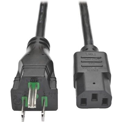 Tripp Lite 10ft Computer Power Cord Hospital Medical Cable 5-15P to C13 10A 18AW