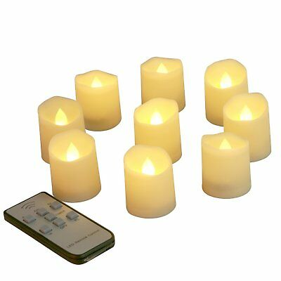 9 PCS LED Flameless Votive Candles with Remote Timer Battery Operated Tea Lights