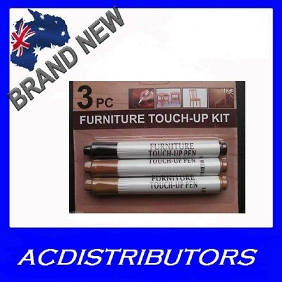 NEW Furniture Markers Repair Scratches Furniture Wooden Floor 3 Colours in Set