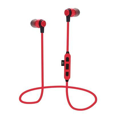Magnetic Bluetooth Headphones with TF Card Slot Sports In Ear Headset W/ Mic