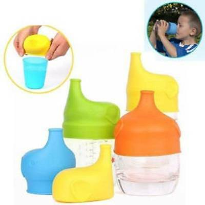 Safety Silicone Sippy Lids Cup Food Grade Bottle Leak Proof Guard For Baby Kids