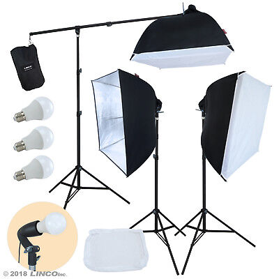 Linco Lincostore Studio Lighting Photography Portrait Softbox Light Kit AM246