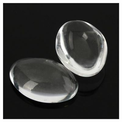 10PCS Oval Crystal Transparent Clear Glass Cabochon Dome Decor 30X40mm G3W2 P1H7