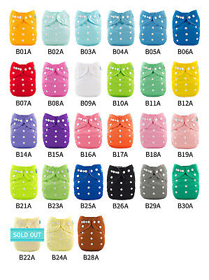 U Pick ALVABABY Cloth Pocket Diapers Reusable Washable Nappies With Insert Lot