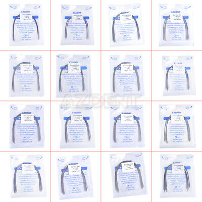 10Pcs AZDENT Dental Orthodontic Stainless Steel Arch Wires Natural Rectangular