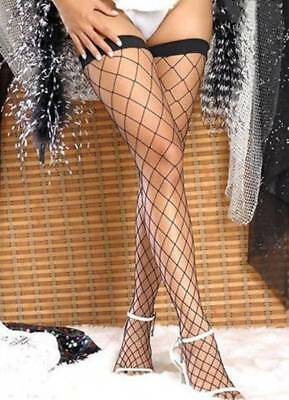 Sexy Lace Top Fishnet Mesh Thigh High Stockings Tights Pantyhose Long Socks Lady