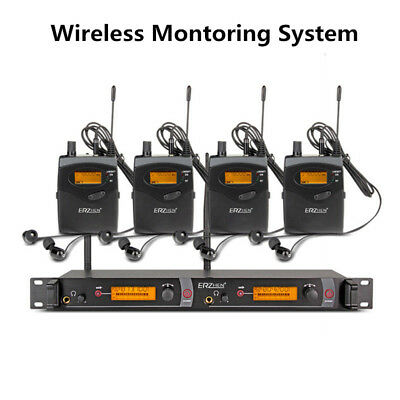 In Ear UHF Wireless Monitorsystem für Stage Performance Sender + 4 Empfänger
