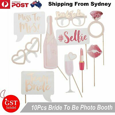10x Rose Rold Bride To Be Bachelorette Photo Booth Hens Party Team Bride Wedding