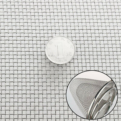 30cm x 60cm 304 Stainless Steel Woven Wire Mesh #8  Cloth Screen Sheet