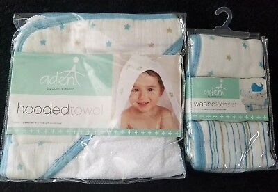 aden and anais towel and washcloth set