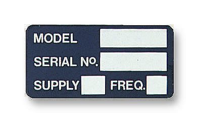 Label Model/Serial No Card Of 10 - 7827275