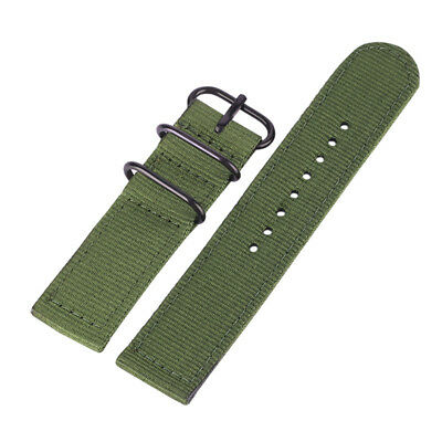 Simple Multi-color 20/22mm Nylon Fabric Canvas Sport Army Wrist Watch Band Strap