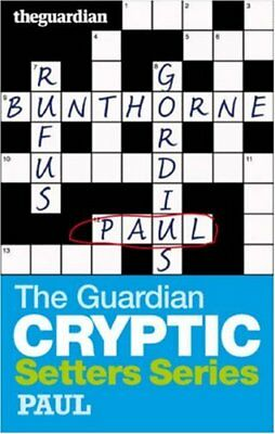 """The """"Guardian"""" Cryptic Crosswords Setters Series: Paul By Hugh Stephens"""