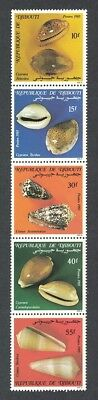 Djibouti Shells 5v Strip issue 1985 SG#959-963