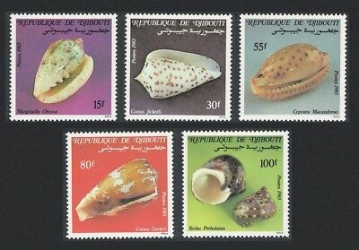 Djibouti Shells 5v issue 1983 SG#893-897