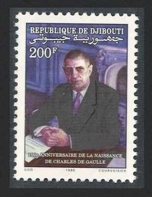 Djibouti Birth Centenary of Charles de Gaulle French statesman 1v SG#1054