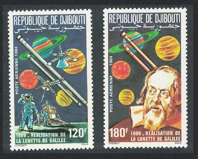 Djibouti 375th Anniversary of Galileo's Telescope 2v SG#932-933