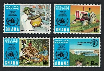 Ghana Tractor 10th Anniversary of World Food Programme 4v SG#677-680
