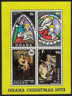 Ghana Stained Glass Paintings Christmas MS SG#MS699