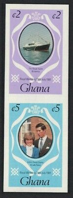 Ghana Charles and Diana Royal Wedding Ship 2v IMPERF pair RARR SG#955-956