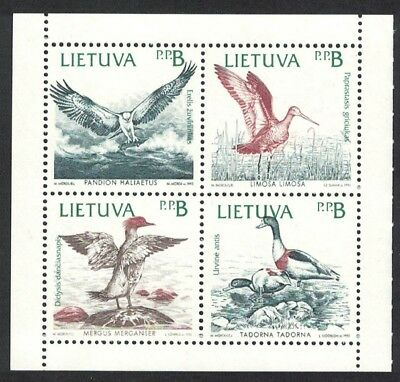 Lithuania Birds of the Baltic block of 4 booklet pane SG#506-509