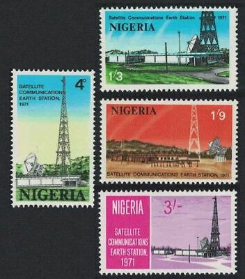 Nigeria Opening of Nigerian Earth Satellite Station 4v SG#266-269