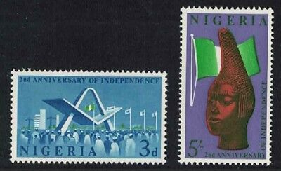 Nigeria 2nd Anniversary of Independence 2v SG#120-121