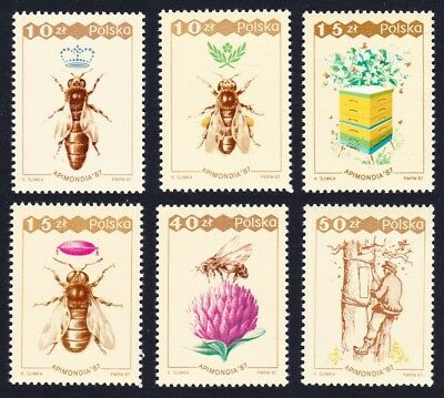 Poland Bees 'Apimondia 87' International Bee Keeping Congress 6v SG#3119-3124