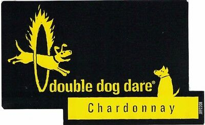Double Dog Dare American Chardonnay Wine Bottle Labels