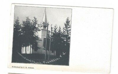NH Franklin New Hampshire antique post card Congregational Church
