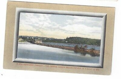 NH Enfield New Hampshire antique 1911 post card Shaker Bridge