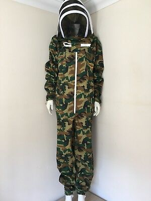 Natural Apiary Camouflage Bee Keeping Suit Size M