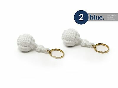 Nautical Braided Ball Rope Keychain , Pair Five Oceans - BC 3039-M2