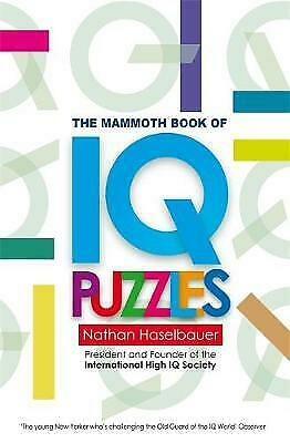 The Mammoth Book of New IQ Puzzles by Nathan Haselbauer (Paperback) Book