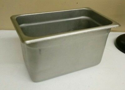 """1 Steam Table / Hotel Pan 1/4 Size 6"""" Deep 18 SS Stainless Steel"""