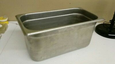 """1 Steam Table / Hotel Pan 1/3 Size 6"""" Deep 18 SS Stainless Steel"""