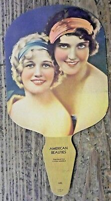VTG Geiger Store New Athens IL Peters Shoes Advertising Fan American Beauties
