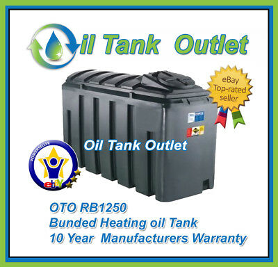 OTO Domestic Heating Oil Storage Tank 1250 Rectangular Bunded with options