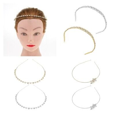 Crystal Headband Hairband Headpiece Tiara Festival Bridal Crown Wedding Deco