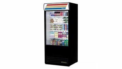 True TAC-36 Air Curtain Merchandiser, Refrigerator, Black, 31.3 cu ft