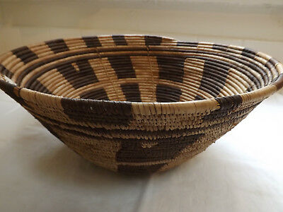 Vintage coiled basket, Botswana, from estate of renowned African collector